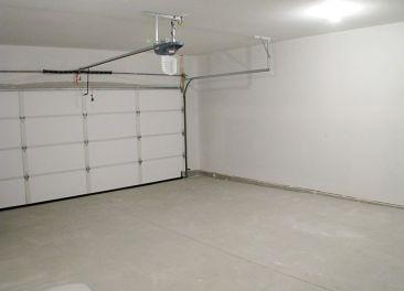 Interior of garage.