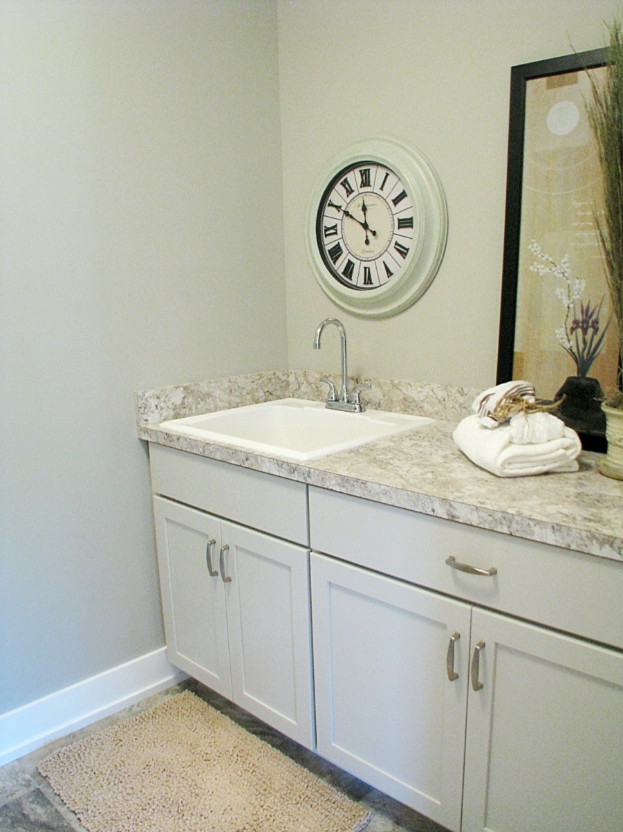 Cabinet & sink in laundry