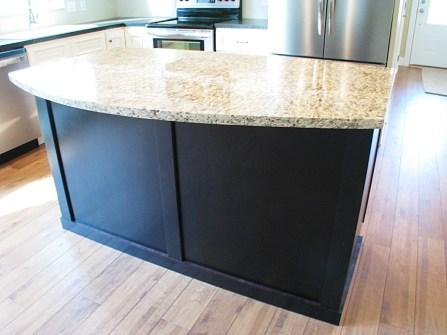 Kitchen-Center island, granite rounded