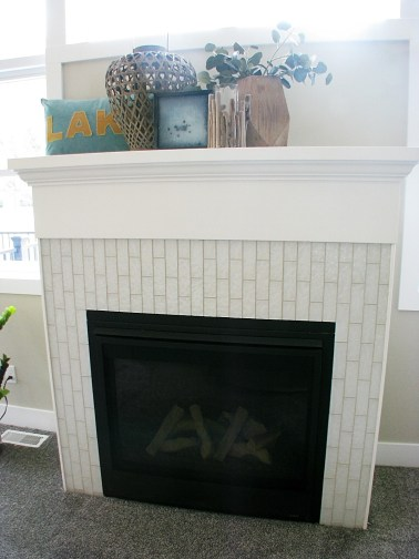 Living room- Gas fireplace