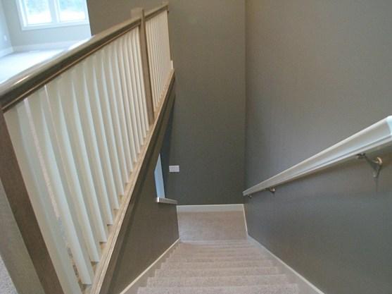 railing wood stairway