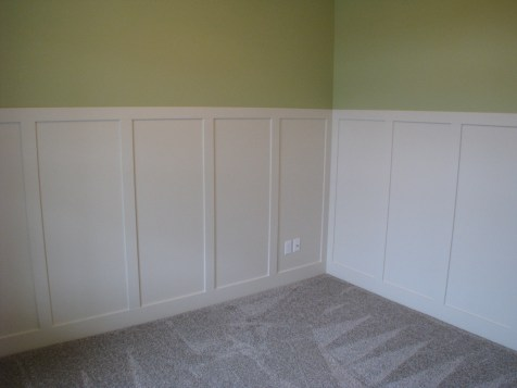 Custom wood trim flex room