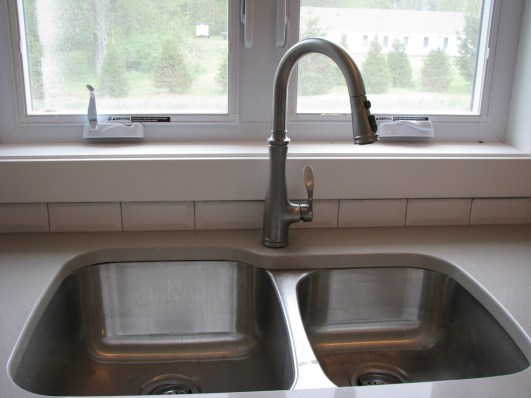Plumbing-high rise faucet-stainless steel Kitchen sink