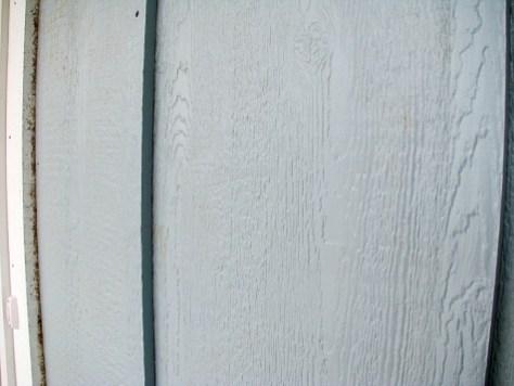 Vertical wood siding