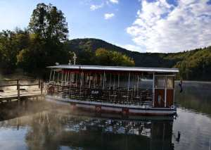 Ferry to Lower Plitvice