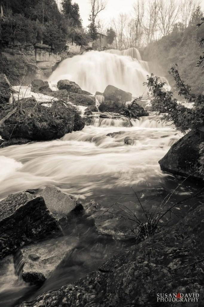 Inglis Falls from Below