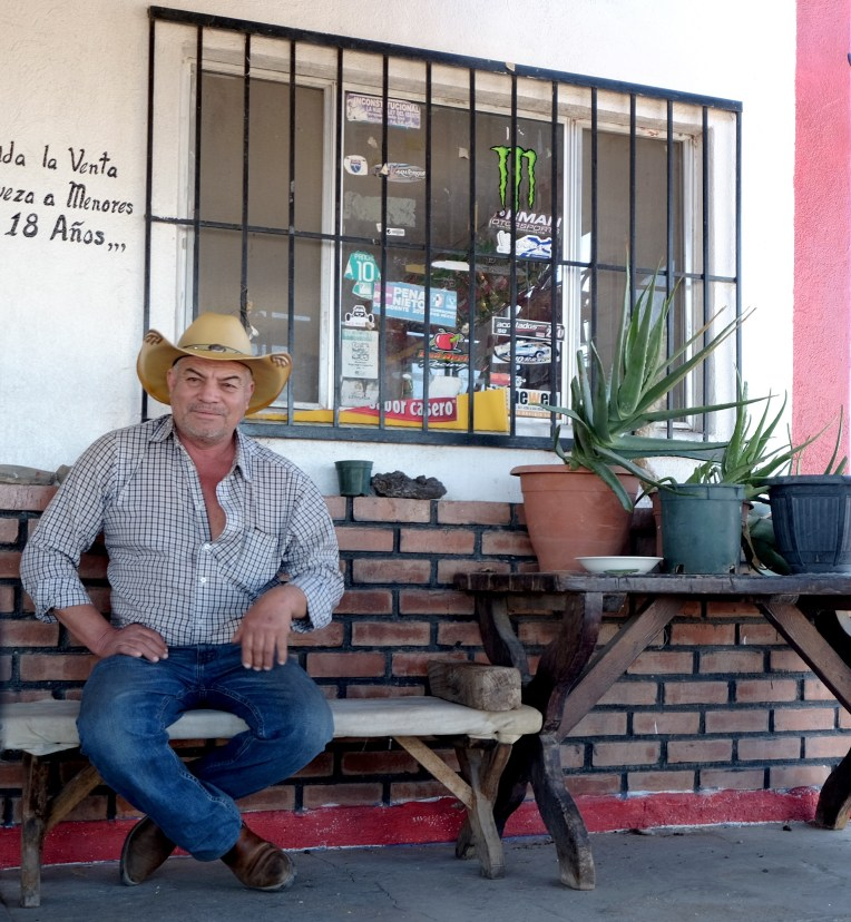 Reuben, the proprietor of a shop near the Sea of Cortez