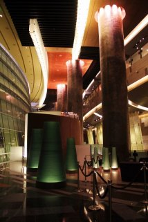 inside the Aria back entrance