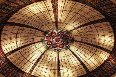 Ceiling inside the Paris hotel