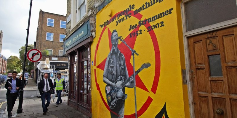 Mural to commemorate Joe Strummer of The Clash