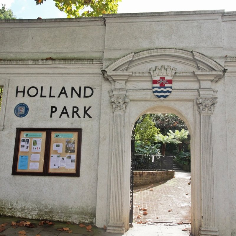 The back entrance to Holland Park