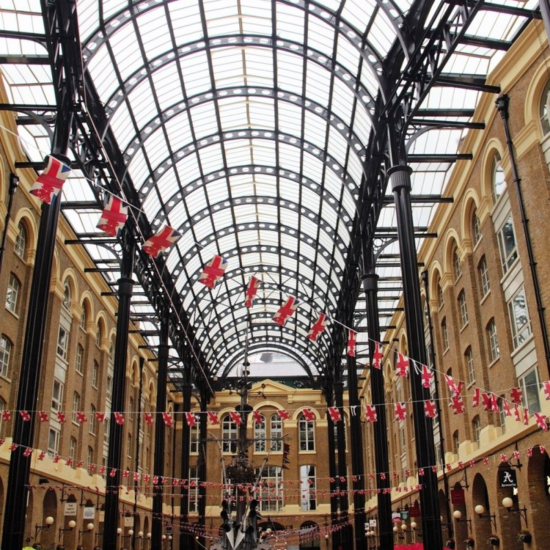 Hays Galleria - a great place to get out of the rain for a bit