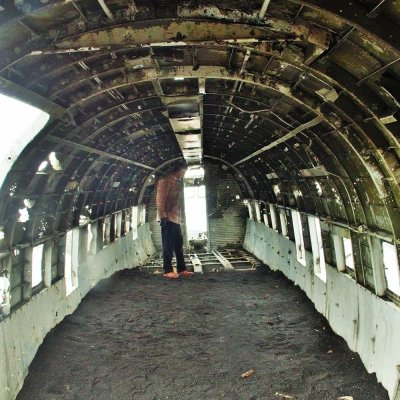 Inside what's left of the DC-3