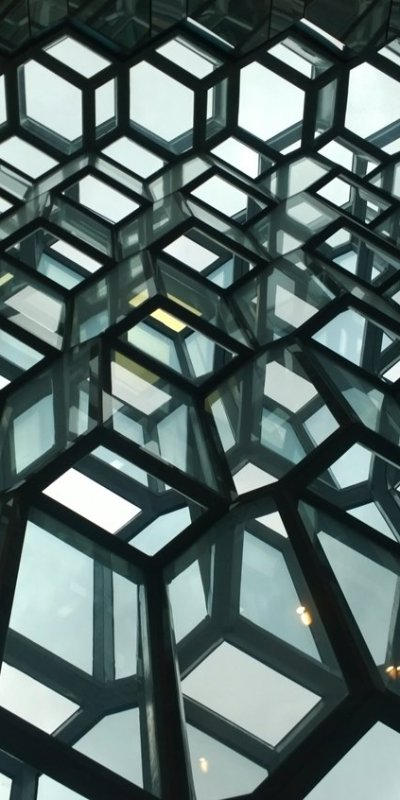 Amazing geometic shapes in Harpa