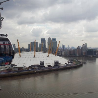 Over the O2 on the Emirates Air Line