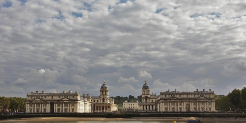 Looking across the Thames to the Old Royal Naval College, Greenwich
