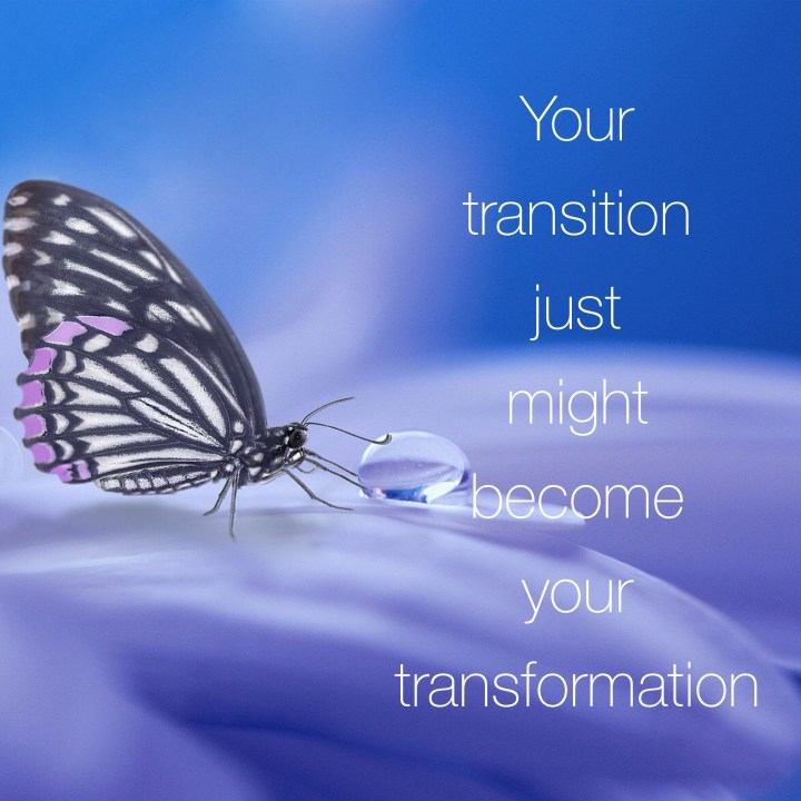 Allow transition to do its work and you'll be transformed