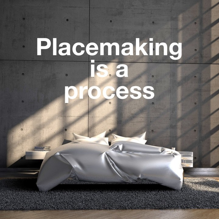 The four stages of finding your place: acceptance. Embracing. Resting. Loving.