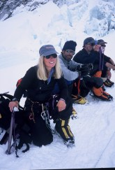 Susan and team on Everest