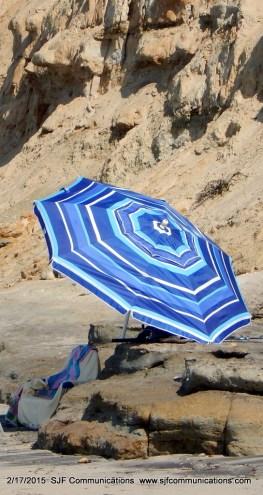 Umbrella at Torrey Pines State Beach