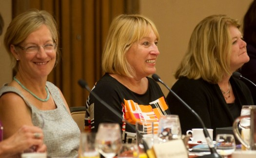 Image of AWSM co-founders Kristin Huckshorn, Susan Fornoff, Nancy Cooney.