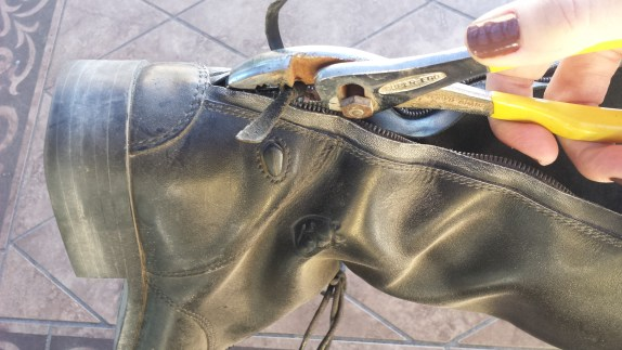 fix riding boot zipper