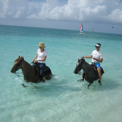 beach riding in Turks and Caicos