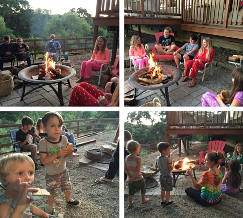 Camp Grandma 2016 summer campfires