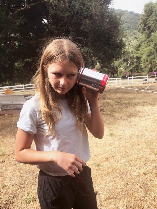 Old Fashion Can Phones at Camp Grandma 2019