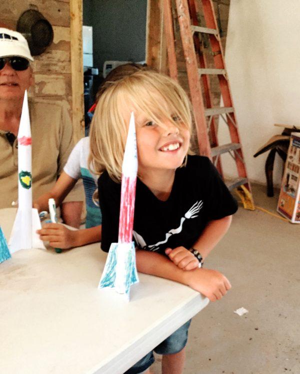 Making rockets at Camp Grandma 2019