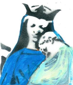 Mary_child_sprayed_stencil