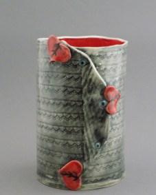 Heart Leaf Wine Cooler, porcelain
