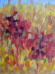 """Autumn Hillside, acrylic on canvas, 18"""" x 24"""", 2011"""