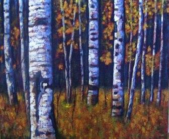 "Yukon Gold, 24"" x 36"", acrylic on texturized canvas, 2011"