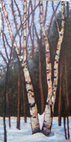 """King of the Woodlands, acrylic on texturized canvas, 40"""" x 20"""", 2011"""