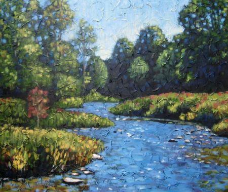 """The Mighty Maitland, Acrylic on canvas, 30"""" x 36"""", 2009"""