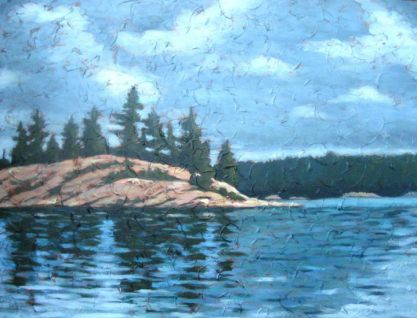 """North Channel #1, acrylic on texturized canvas, 30"""" x 40"""", 2009"""