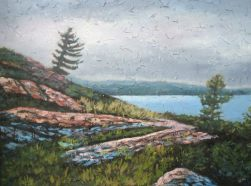 """North Channel #3, acrylic on texturized canvas, 30"""" x 40"""", 2009"""