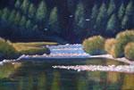 """Maitland River Scene, 30"""" x 48"""", acrylic on texturized canvas, 2011"""