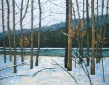 """Winter Along the Maitland River, acrylic on canvas, 22"""" x 28"""", 2008 SOLD"""