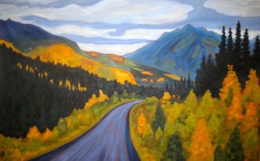 "Yukon Magesty 2, acrylic on canvas, 30"" x 40"""
