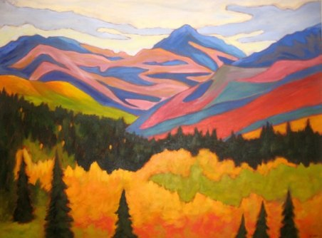 "Yukon Abstract, acrylic on canvas, 30"" x 40"""