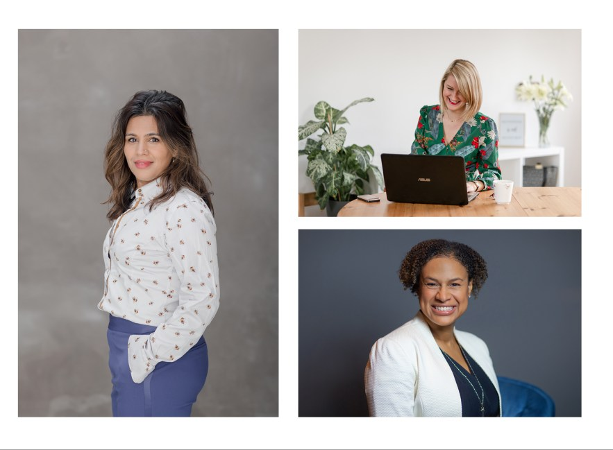 personal branding photogaphy women in business headshots working at laptop