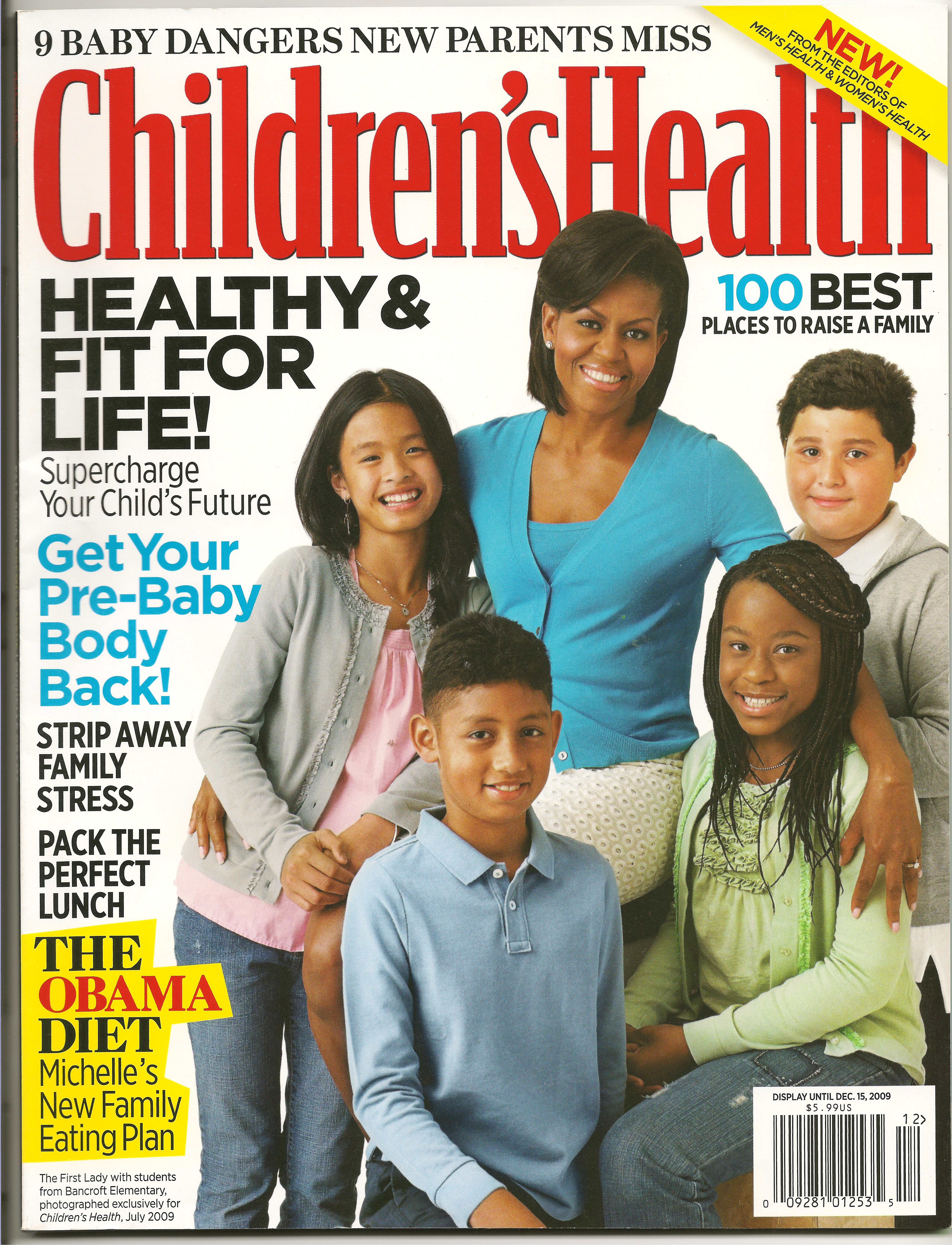 Childrens health - Michelle Obama S Cover With Children S Health Magazine Making Up America