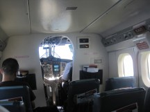 Inside the Twin Otter plane