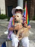 My sister Lynda and her pride dog, Howie