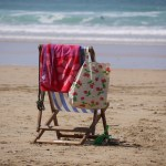 Photo of a deckchair on a beach