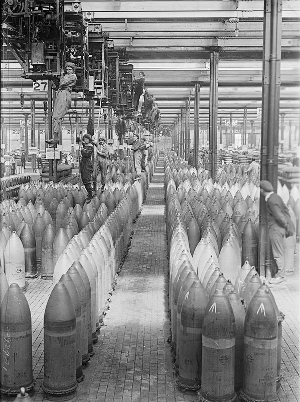 picture of WW1 ammunition shells