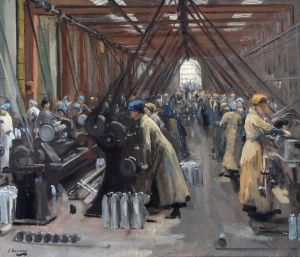 Picture of women munitions workers