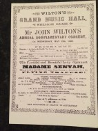 Picture of music hall programme 1868